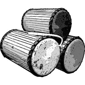 instrumentos musicales etnicos tambores dobles