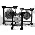 instrumentos musicales etnicos gongs