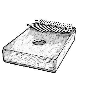 instrumentos musicales etnicos kalimbas